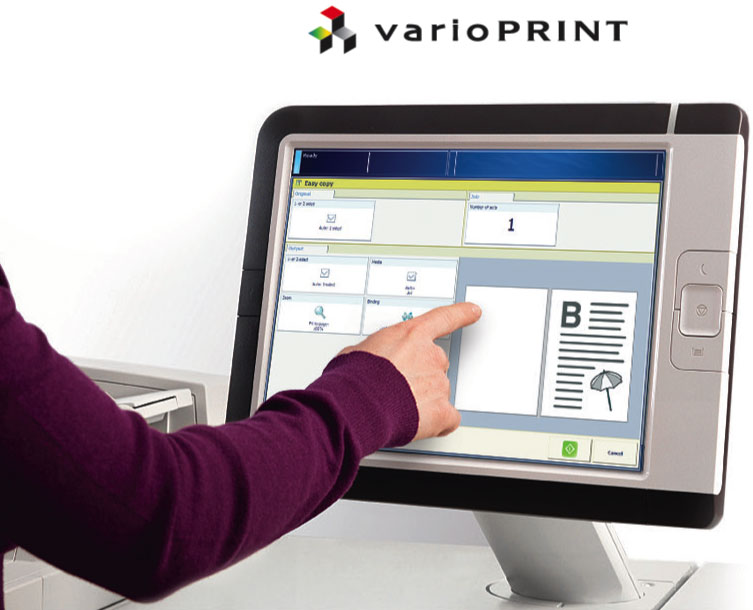 A user using a touch screen - varioPrint